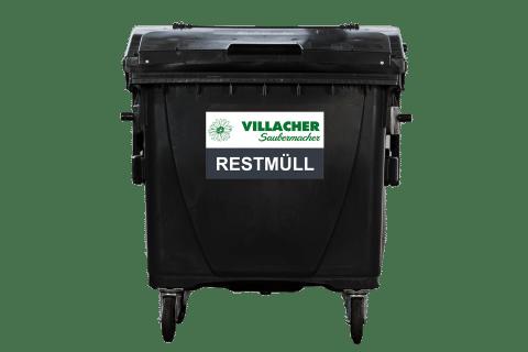 1100 Liter Behälter vom Villacher Saubermacher