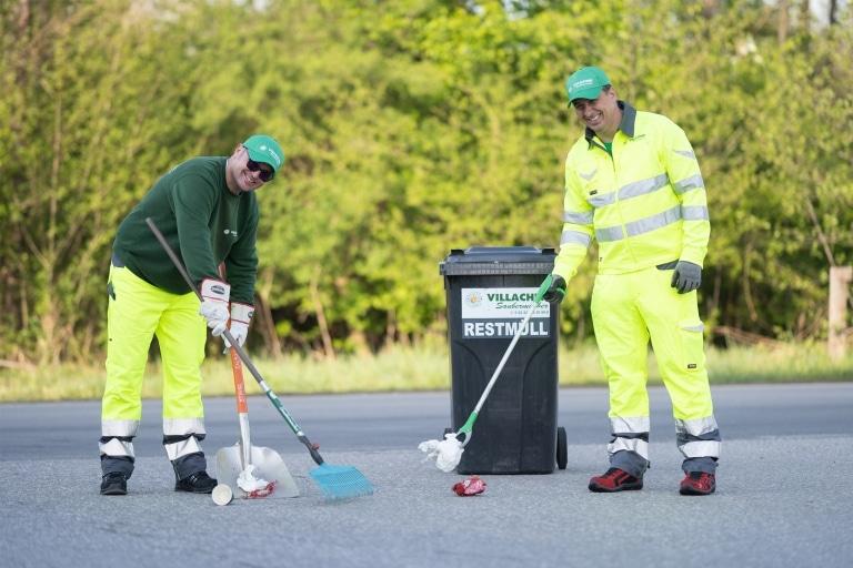 Endreinigung des Geländes nach Veranstaltungen und Events durch den Villacher Saubermacher