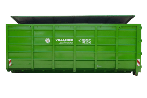 Abrollcontainer 36 m³ mit Deckel vom Villacher Saubermacher
