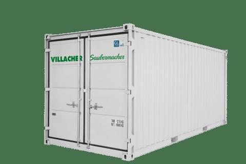 Kühl-Container (20ft) vom Villacher Saubermacher (außen)