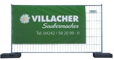 Hohes Absperrgitter vom Villacher Saubermacher