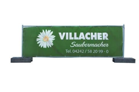 Niedriges Absperrgitter vom Villacher Saubermacher