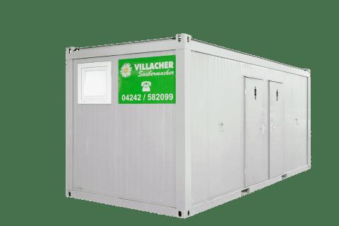 WC-Container Damen & Herren (20ft) vom Villacher Saubermacher