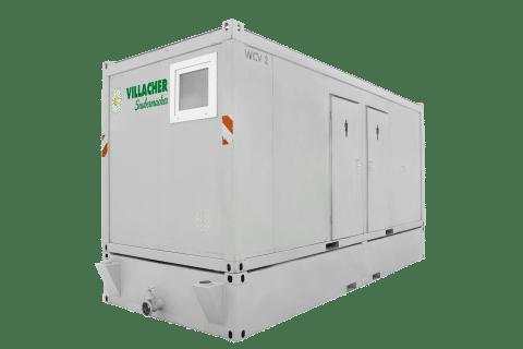 WC-Container Damen & Herren mit Unterbautank vom Villacher Saubermacher