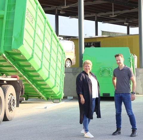 Irene Hochstetter-Lackner und Christopher Pfleger auf neuer ASZ Rampe, Fotocredit: Stadt-Villach-Kompan